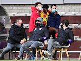Issa Kabore moest naar de kant in de wedstrijd tussen Beerschot en KV Mechelen met een hamstringblessure