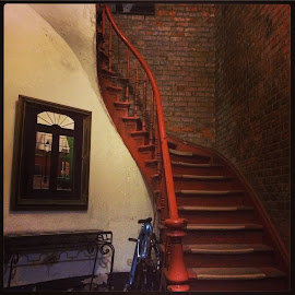 New Orleans by Mary Phelps - Instagram & Mobile iPhone ( new orleans, stairs, staircase, louisiana, french quarter,  )