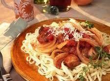 Fresh Pasta With Onion And Pork Recipe