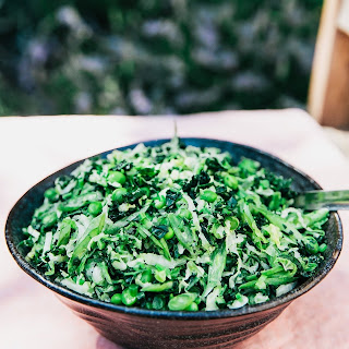 Napa Cabbage and Kale Coleslaw with Creamy Miso-Ginger Dressing