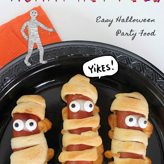 Mummy Hot Dogs Recipe- Easy Halloween Party Food