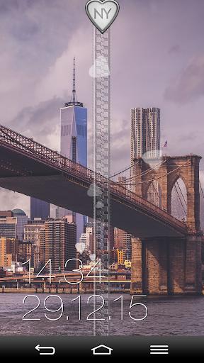 ニューヨーク ジッパー画面ロック