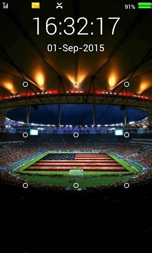 screen lock football pattern