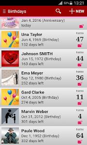 Birthdays screenshot 6