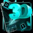 Neon Hologram 3D Tech Keyboard Theme game APK