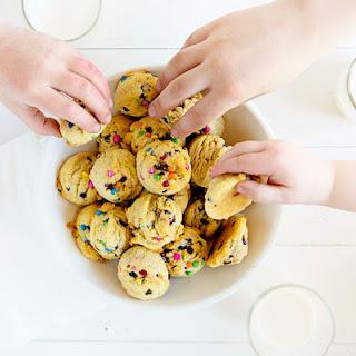 Mini Rainbow Chip Cookies