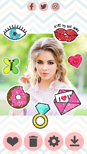 Glitter Stickers 1.1 screenshots 5