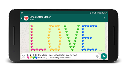 Foto do Emoji Letter Maker 😍