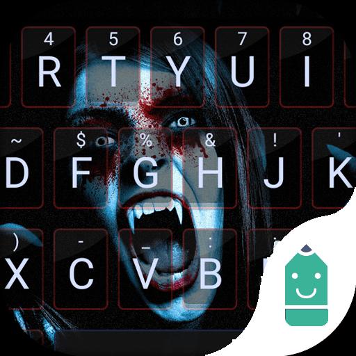 Vampire Girl Emoji Keyboard