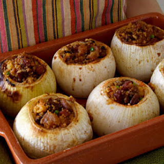 Baked Onions Stuffed with Cornbread and Pecans