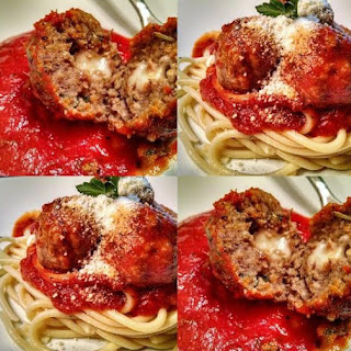 Weight Watchers Mozzarella-Stuffed Meatballs with Penne and Kale