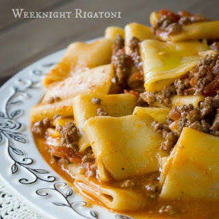 Easy Weeknight Rigatoni with Beef Marinara