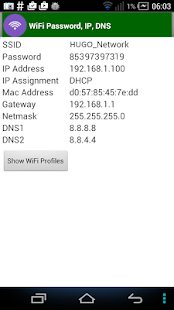 WiFi Password, IP, DNS Pro Screenshot