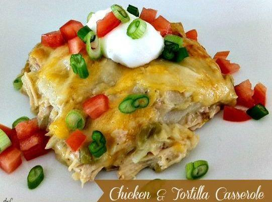 Chicken & Tortilla Casserole Recipe