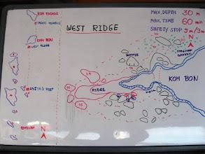 """Photo: #009-Le site de plongée """"West Ridge"""" à Koh Bon"""