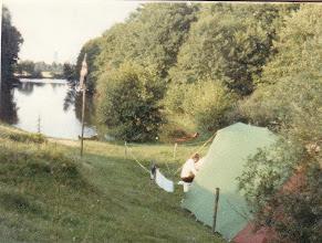 """Photo: 1981: Lagerplatz """"Am atmenden Wasser"""" (Toter Emsarm)"""