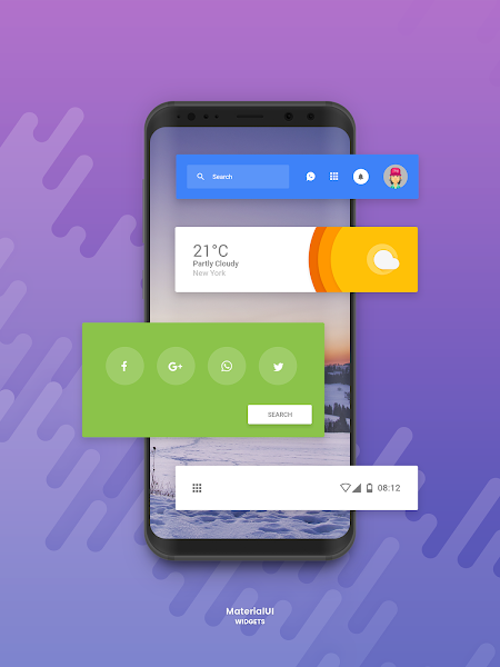 Material UI Widgets for Zooper v1.0 [Paid]