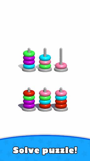 Sort Hoop Stack Color - 3D Color Sort Puzzle  screenshots 10