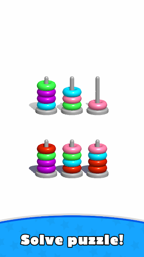 Sort Hoop Stack Color - 3D Color Sort Puzzle android2mod screenshots 10