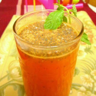 Ginger Flavored Carrot And Orange Fresca With Chia Seeds
