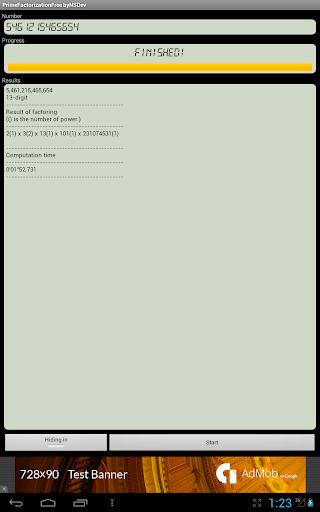 PrimeFactorizationFree byNSDev 1.0.1 Windows u7528 6