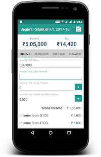 Income Tax Calculator - náhled