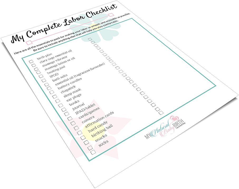 Complete Labor Bag Checklist