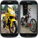 Modified Honda Tiger motorcycle icon