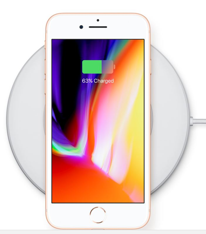 iPhone 8 and wireless charger. Picture: APPLE