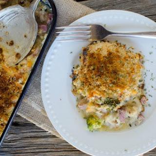 Ham, Broccoli, Spaghetti Squash Casserole.