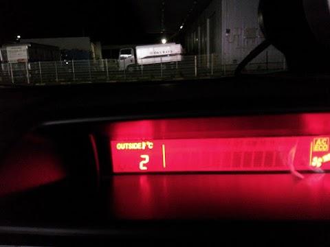 出発時点では2℃