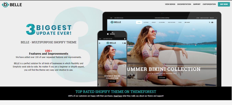 Belle - Bikini shopify theme