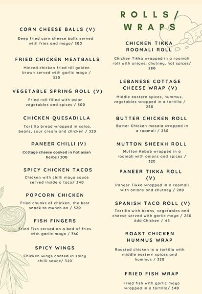 Rike- Terrace Bar & Grill menu 2