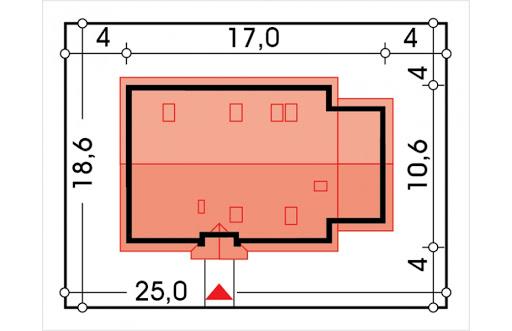 Azalia II wersja C z pojedynczym garażem - Sytuacja