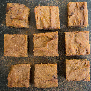 Pumpkin Chocolate Chunk Blondies