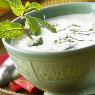 Chilled Yogurt Soup with Mint