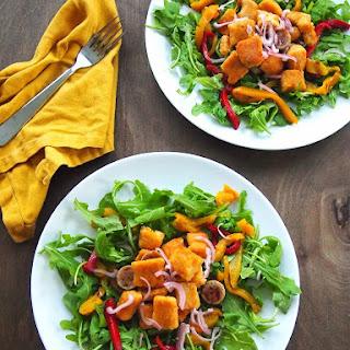 Gluten Free Sweet Potato Gnocchi and Chicken Sausage Salad