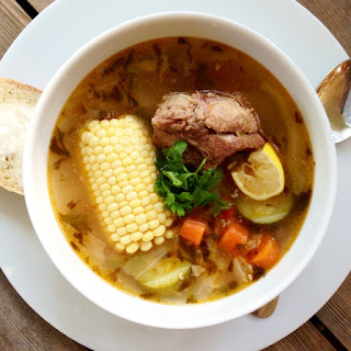 Authentic Mexican Beef and Vegetable Soup.