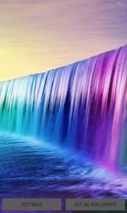 Purple Waterfalll LWP - náhled