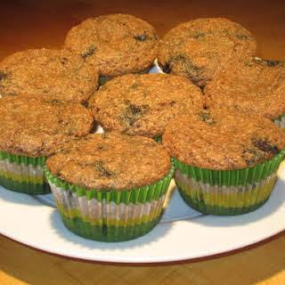 Moist Blueberry Bran Muffins.