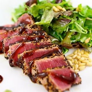 Pan Seared Ahi Tuna.