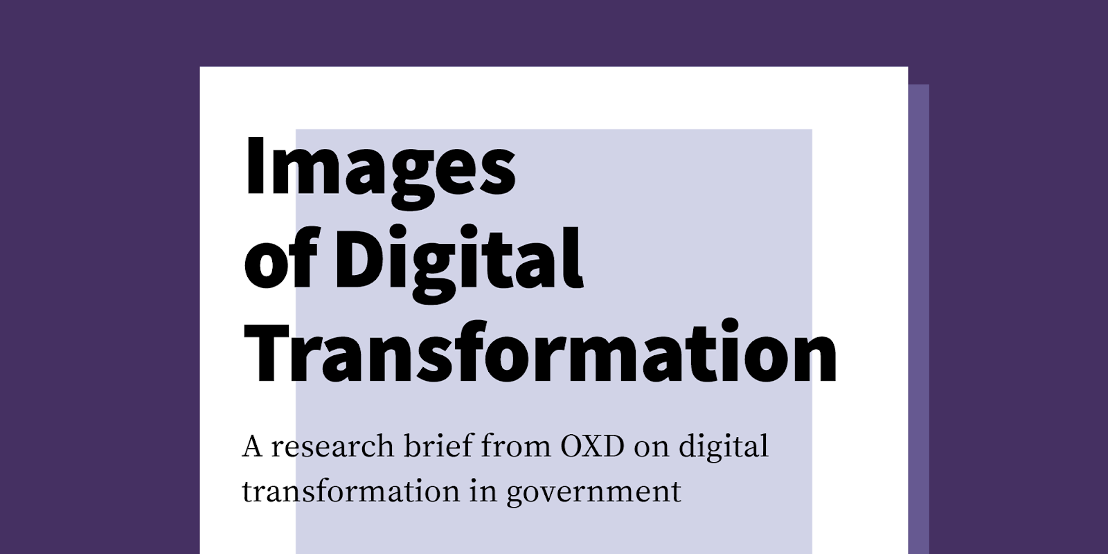 digital transformation in government research brief cover