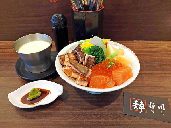 台北公館靜壽司。鮭魚親子丼飯美味推薦