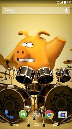 Pig Rock Drummer Live Wallpap