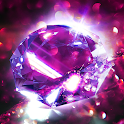 Diamond Wallpaper for Girls and Keyboard icon