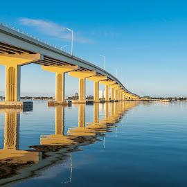 Titusville Bridge by Keith Reling - Buildings & Architecture Bridges & Suspended Structures ( titusville florida )