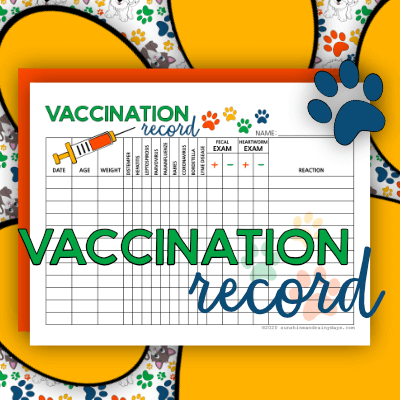 Pet Vaccination Record