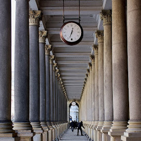 Pillars of the Mill Colonade by Daniela Maskova - Buildings & Architecture Other Interior