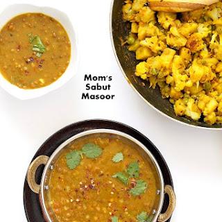Sabut Masoor Ki Daal - Lentil Soup