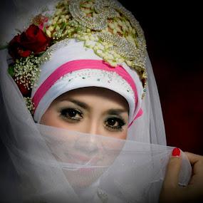 she's shy...? by Abdul Firdausy - Wedding Bride